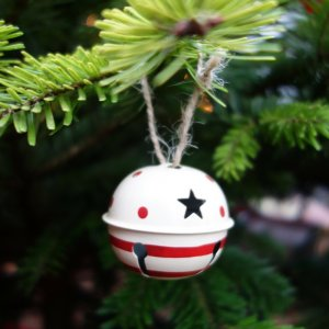 Weihnachtsglocke im Tannenbaum Schreibgruppe Federreiter
