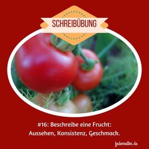 Tomate Beschreibung Frucht als Schreibübung Schreibgruppe Federreiter