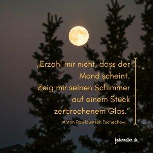 Zitat Anton Tschechow über die Darstellung des Monds Schreibgruppe Federreiter