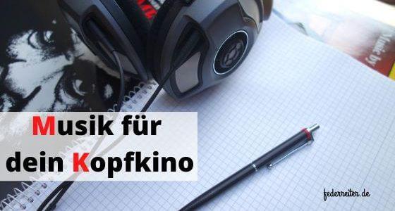Kopfhörer, Musik & Blog mit Stift - was brauchst du mehr zum Schreiben?